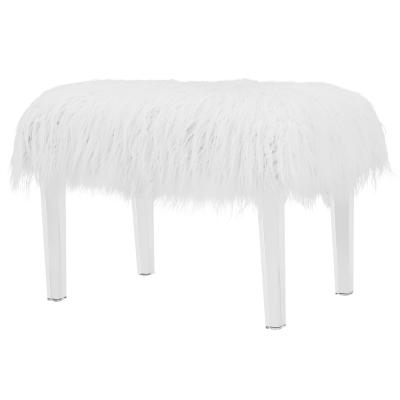 Fine Scarlett Faux Fur Stool Squirreltailoven Fun Painted Chair Ideas Images Squirreltailovenorg