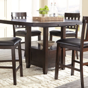 Silver Dining Table And Chairs, 5 Pc Drop Leaf Dining Set Cnt Hght Demeyer Furniture